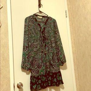 Michael Kors paisley pattern dress